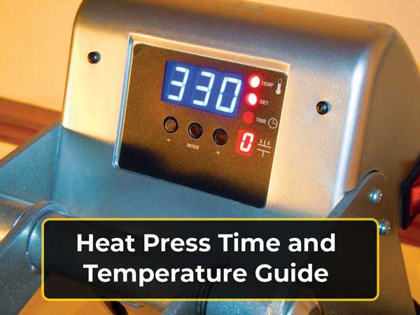 Heat Press Time and Temperature Guide