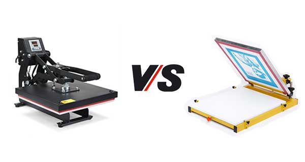 Heat Press VS Screen Printing