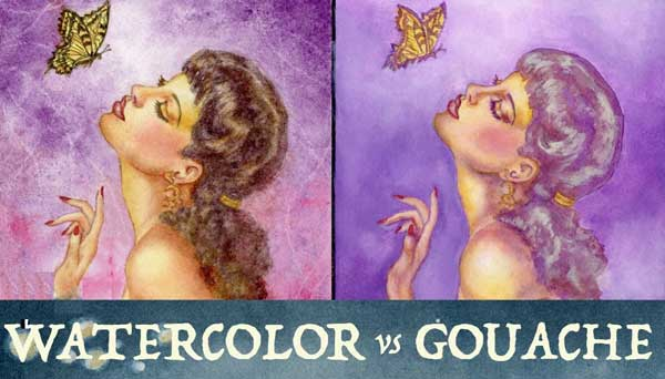 Watercolor vs Gouache