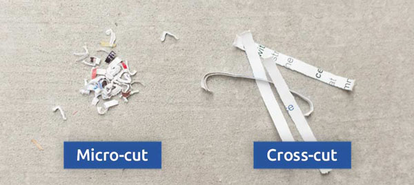 different between cross cut and micro cut paper shredder