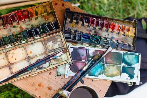 history of water color painting