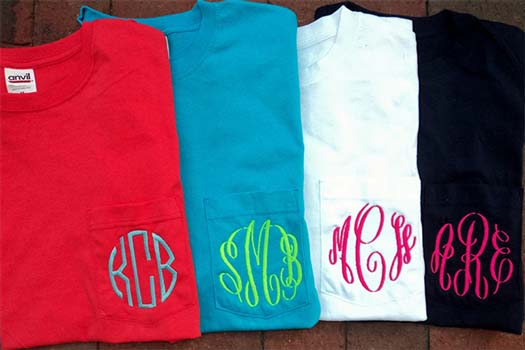 How To Monogram A Shirt