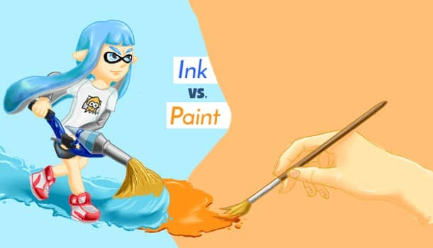 Ink Vs. Paint