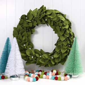 Decorate The Front Door With Wreath