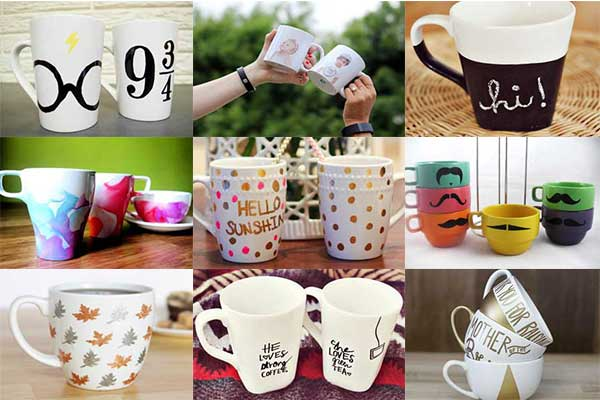 Simple And Unique Mug Decorating Ideas