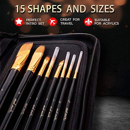 Angelus Paint Brush Set 5 Brush Set High Quality synthetic fibers AU SELLER