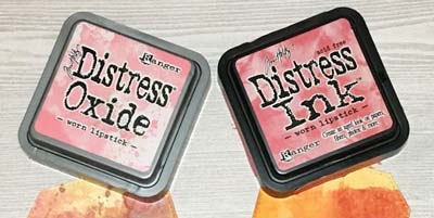 Comparing Between Distress Oxide and Distress Ink