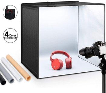 interior design light box studio setting