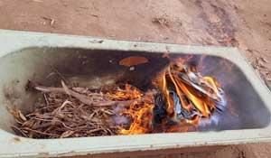 IGNITE THE FIRE IN A BATHTUB