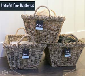Labels for Baskets