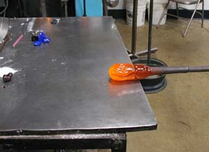 Glass Blowing marver