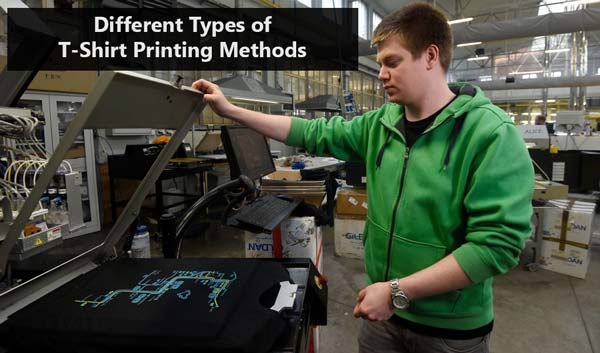 Different Types of T-Shirt Printing Methods