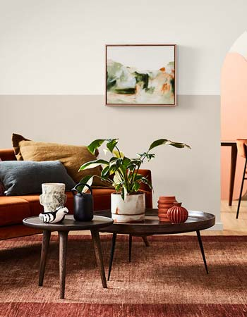 Two Tone Painting Ideas For Living Room